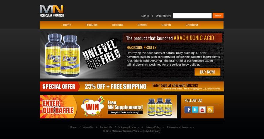 Penyertaan Peraduan #                                        51                                      untuk                                         Website for Sports Nutrition Co. NO CODING / GFX ONLY