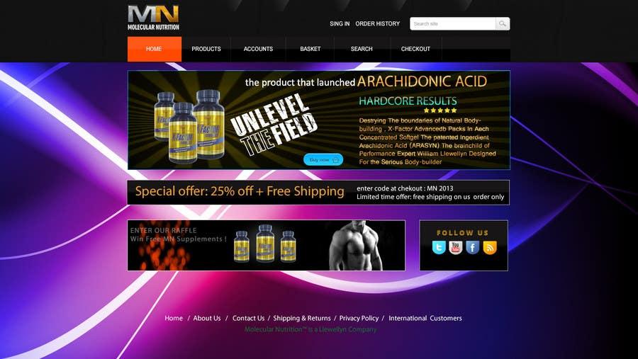 Penyertaan Peraduan #                                        16                                      untuk                                         Website for Sports Nutrition Co. NO CODING / GFX ONLY