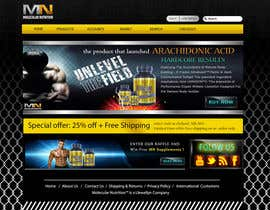#54 para Website for Sports Nutrition Co. NO CODING / GFX ONLY por marwenos002