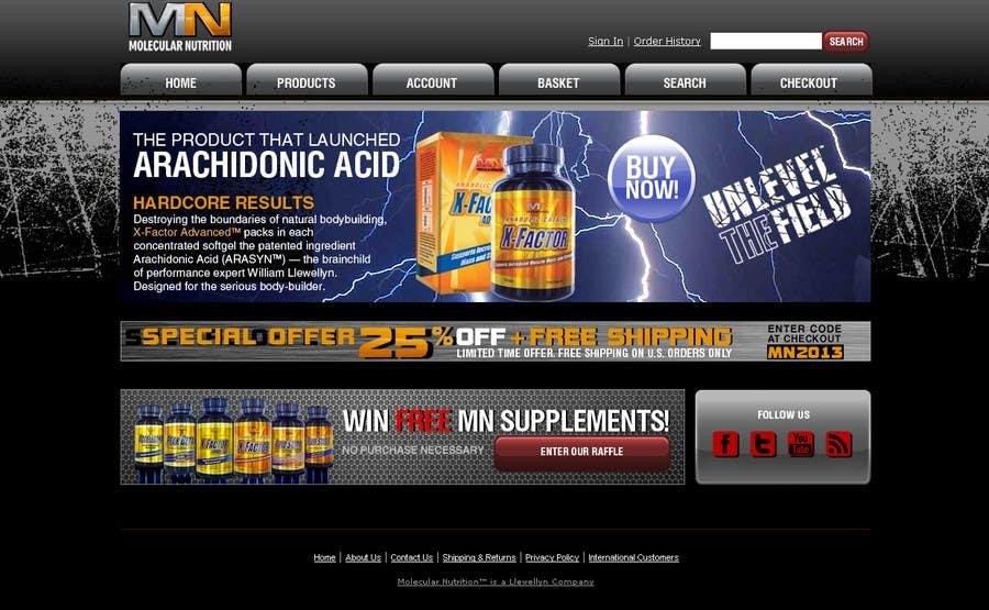 Inscrição nº 60 do Concurso para Website for Sports Nutrition Co. NO CODING / GFX ONLY