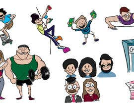 #23 for Simple sports and people graphic designs, cartoons... comics... by blakgau