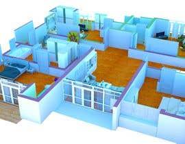Nro 19 kilpailuun I need some Graphic Design: 3D rendering of the attached plan käyttäjältä peaceimad