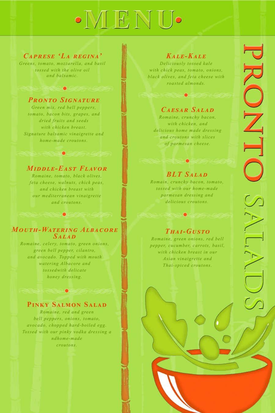 Penyertaan Peraduan #                                        5                                      untuk                                         I need some Graphic Design for a menu