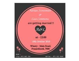 Nro 9 kilpailuun Wedding Invite käyttäjältä MaryamKha