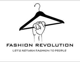 Nro 17 kilpailuun Create a black and white logo of the fashion revolution käyttäjältä sandorst
