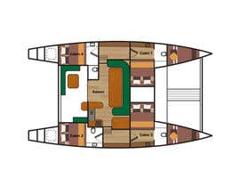 #10 for I need some Graphic Design - Boat Layout Diagram by richardwct