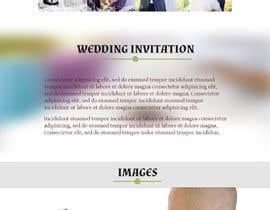 #4 untuk Wedding design - one page template oleh rishab6565