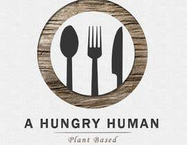 #4 for Plant based with lots of different foods, named: A Hungry Human I am wanting to incorporate the name in the middle over the top of a fork, spoon & knife, I like the look of rustic designs and maybe #plantbased in very small writing somewhere on the logo by euwonlol