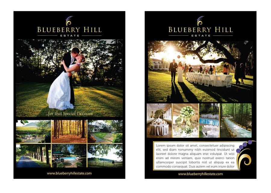 Inscrição nº 57 do Concurso para Graphic Design for MARKETING BROCHURE -Blueberry Hill Estate- Wedding Specific -Media Kit for print