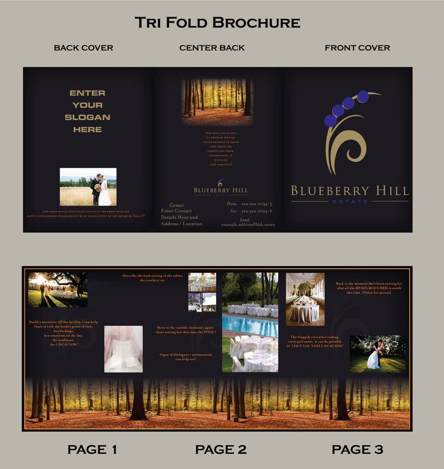 Konkurrenceindlæg #3 for Graphic Design for MARKETING BROCHURE -Blueberry Hill Estate- Wedding Specific -Media Kit for print