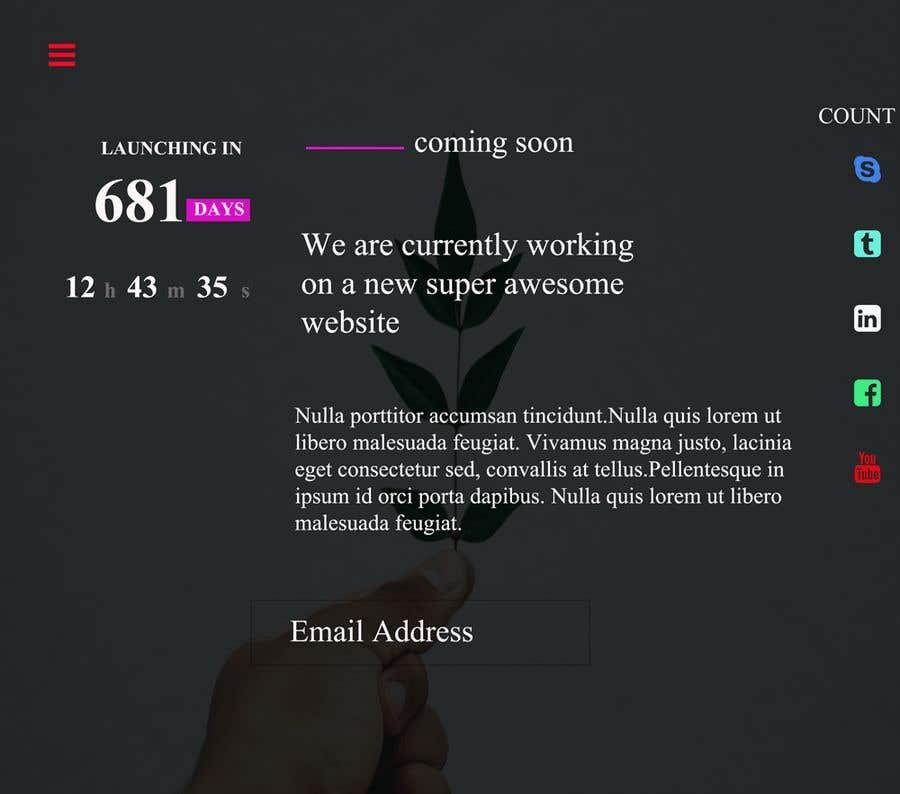 Kilpailutyö #26 kilpailussa Coming Soon Landing Page