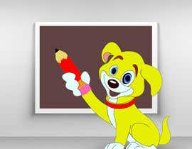 #22 pentru Logo design - Cartoon Dog Drawing logo de către juwelmia2210