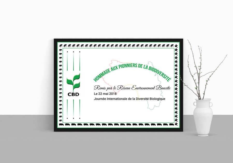 Proposition n°                                        5                                      du concours                                         certificate design