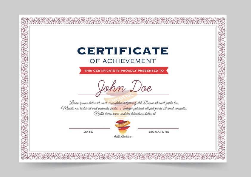Proposition n°                                        1                                      du concours                                         certificate design