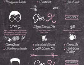 #69 untuk Fun Infographic Style Menu for Fudge Store oleh dileny
