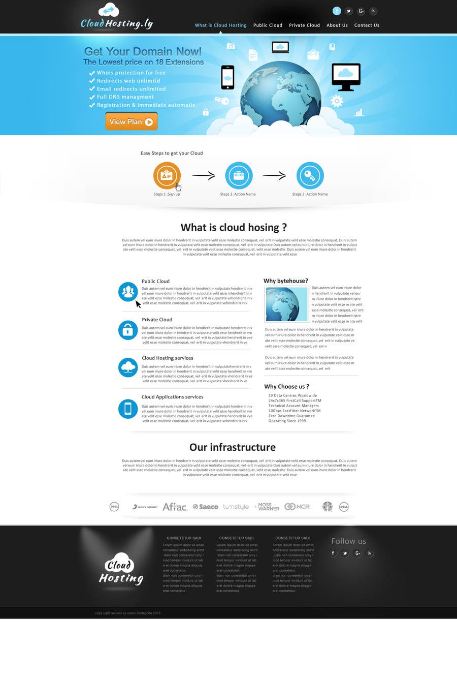 Inscrição nº                                         5                                      do Concurso para                                         Website Design for cloud hosting and cloud storage mini site for major UK hosting company