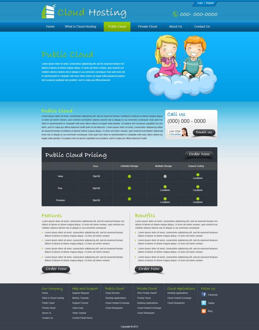Inscrição nº 32 do Concurso para Website Design for cloud hosting and cloud storage mini site for major UK hosting company