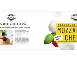 #9 สำหรับ Sleeve Label Design for Mozzarella Cheese Kit โดย aliamaghfur