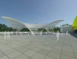#8 for Rendering of a Saddle Span Tent in a Park by b3aybk