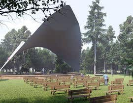 #13 for Rendering of a Saddle Span Tent in a Park by mga5944989a58f4e