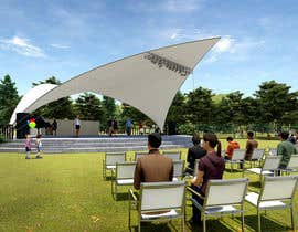 #18 for Rendering of a Saddle Span Tent in a Park by OuLisha