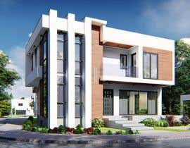 #77 for Realistic exterior rendering of a modern house by sajeervellur