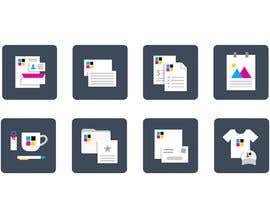 #14 for Design icons for print material categories by louisphilippebf