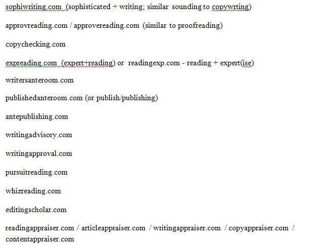 Participación en el concurso Nro.64 para Find me a business name