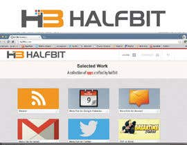 nº 172 pour Logo Design for HalfBit par winarto2012