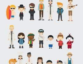 Nro 24 kilpailuun Illustration of 48 avatars for edutech game käyttäjältä leandeganos