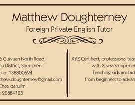 #4 untuk Urgent: Design a simple Business Card for English teacher oleh s04530612