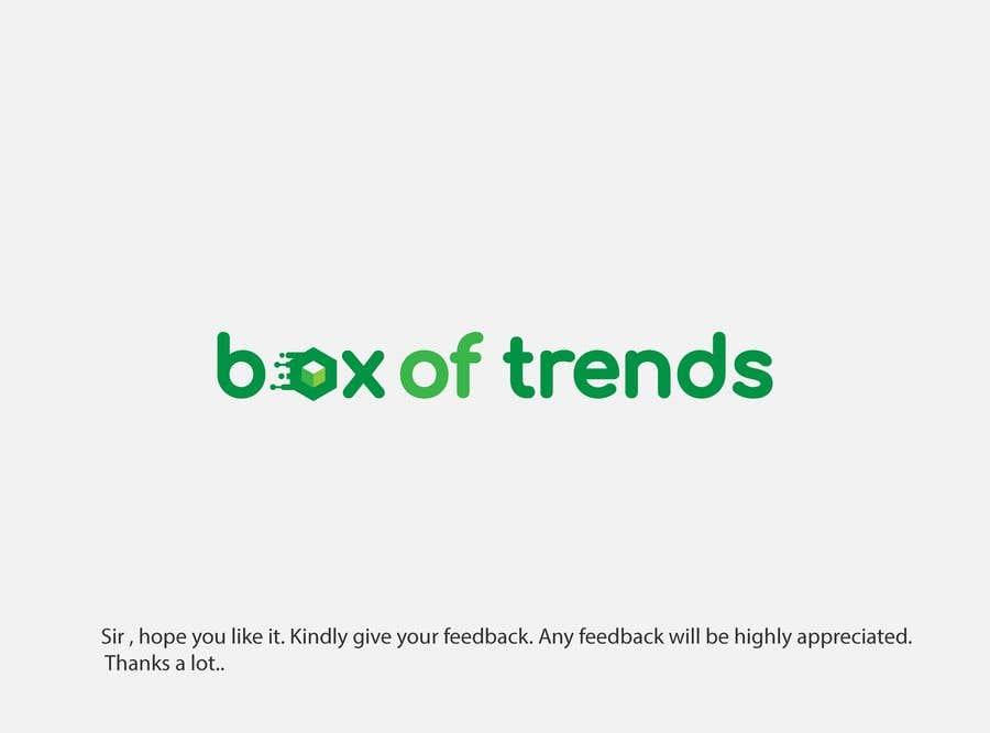 """Penyertaan Peraduan #211 untuk Logo for ecom store """"Box of trends"""""""
