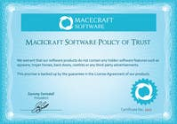 Graphic Design Contest Entry #24 for Website Certificate Design for Macecraft Software