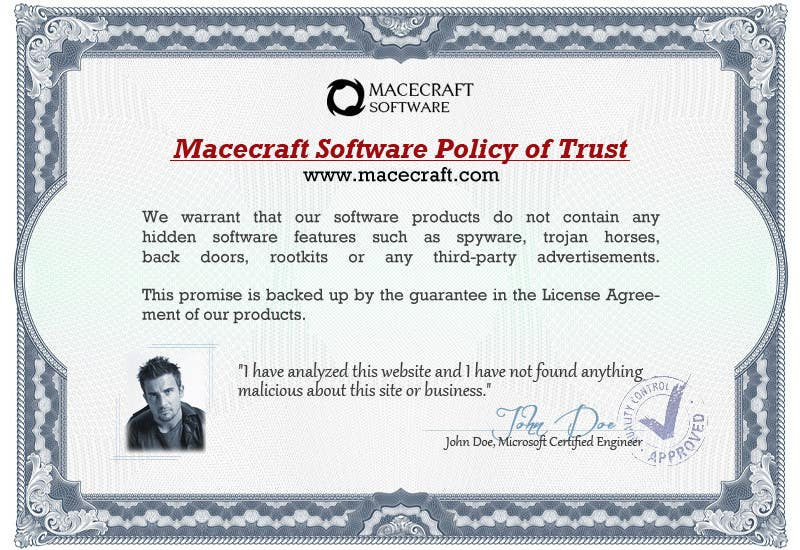 Contest Entry #12 for Website Certificate Design for Macecraft Software