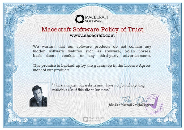 Contest Entry #19 for Website Certificate Design for Macecraft Software