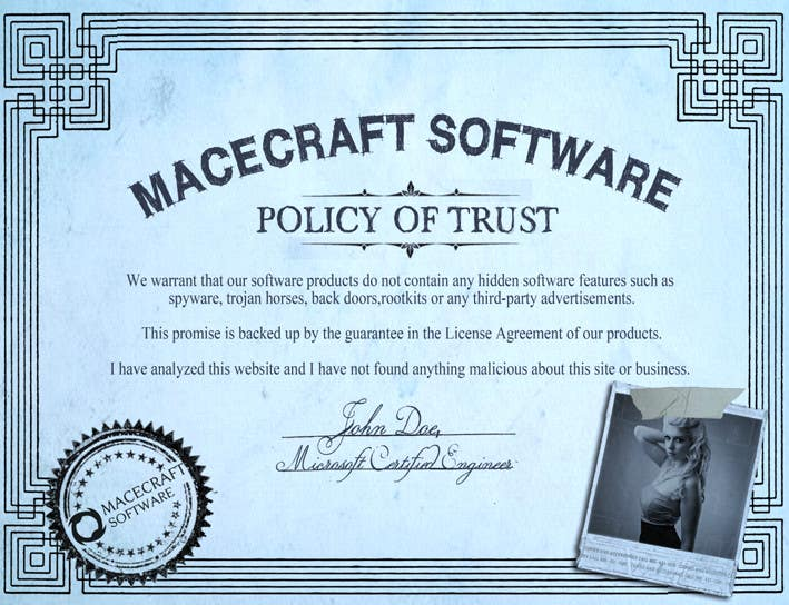 Contest Entry #18 for Website Certificate Design for Macecraft Software