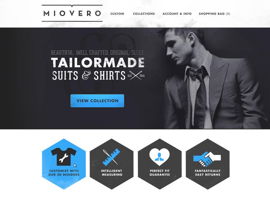 Contest Entry #13 for HOMEPAGE DESIGN FOR MIOVERO - and future work, read descriptions.