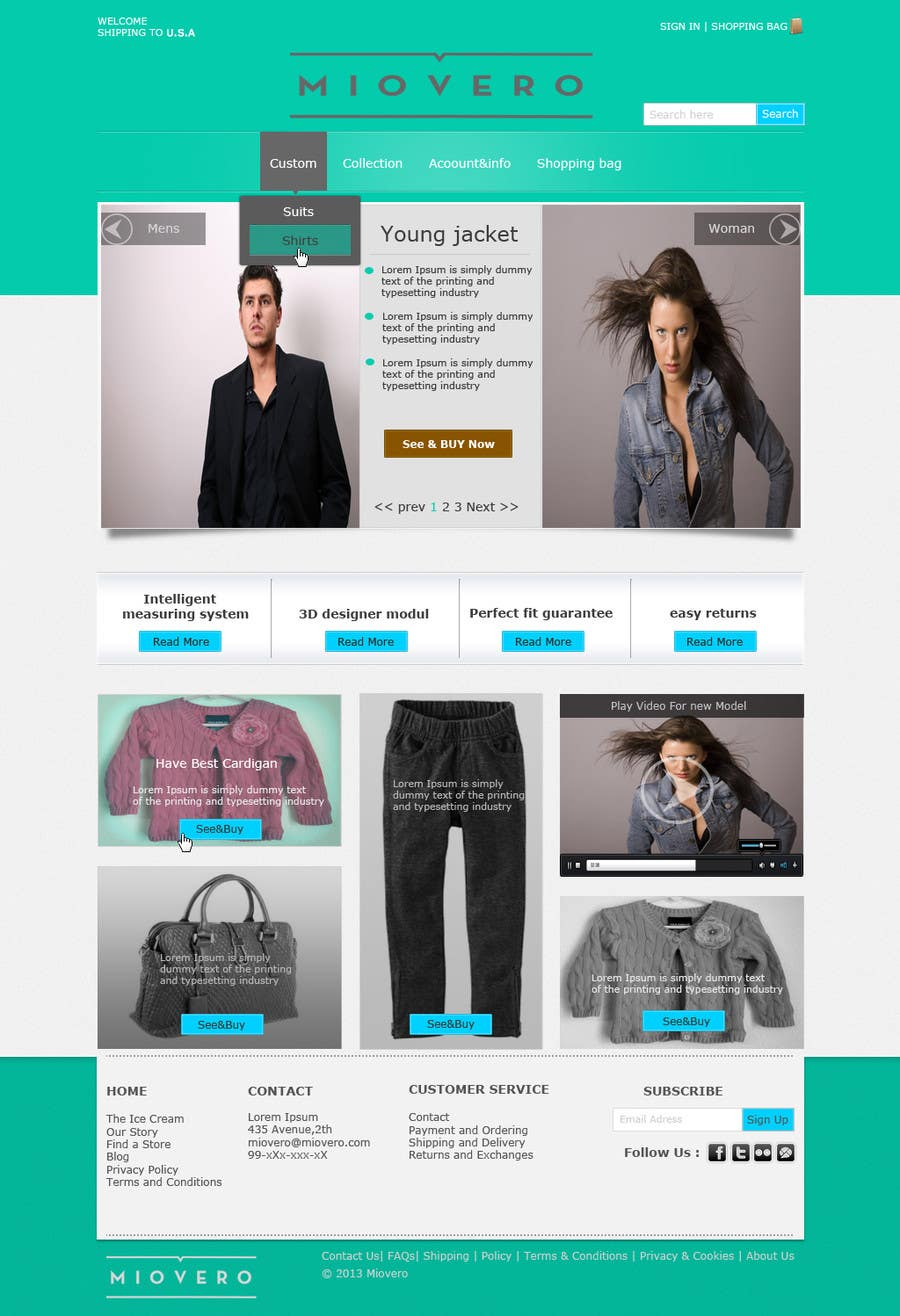 #52 for HOMEPAGE DESIGN FOR MIOVERO - and future work, read descriptions. by pratama05