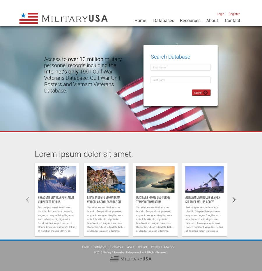#37 for Website Design for MilitaryUSA.com by nelsonc99