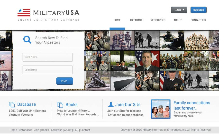 #36 for Website Design for MilitaryUSA.com by Bkreative