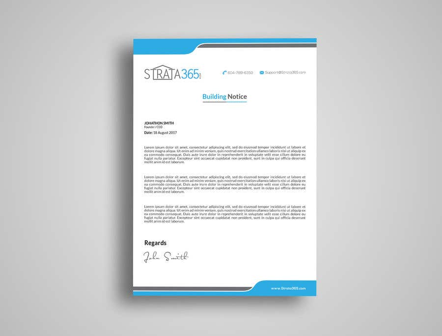 Notice Memo | Entry 54 By Kushum7070 For Design Some Stationery Letterhead