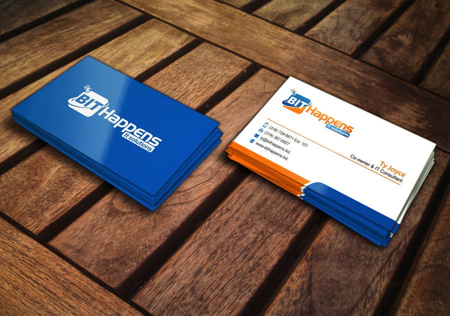 Entry 8 By Mdreyad For Design Some Business Cards For Bit Happens