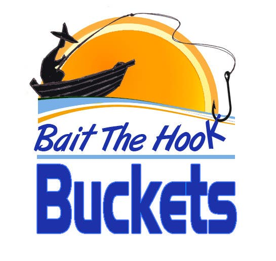Contest Entry #45 for Logo Design for The Lively Angler or Bait the Hook Buckets  or an original new Brand Name)