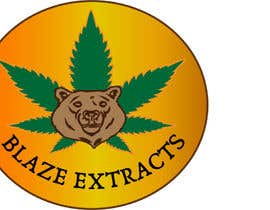 "#13 untuk Please help design a logo company called:  ""Blaze Extracts"".  Please write the words ""Blaze Extracts"" as the California bear (i attached a few images as examples).  Please also add a marijuana leaf behind the bear as a background. oleh suhailrausseo"