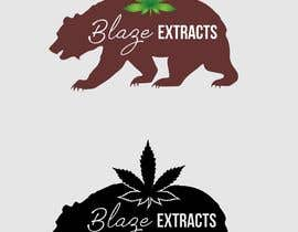 "#10 untuk Please help design a logo company called:  ""Blaze Extracts"".  Please write the words ""Blaze Extracts"" as the California bear (i attached a few images as examples).  Please also add a marijuana leaf behind the bear as a background. oleh ConceptGRAPHIC"