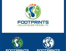 nº 219 pour Logo Design for Footprints Voluntour Travel Tv par jummachangezi