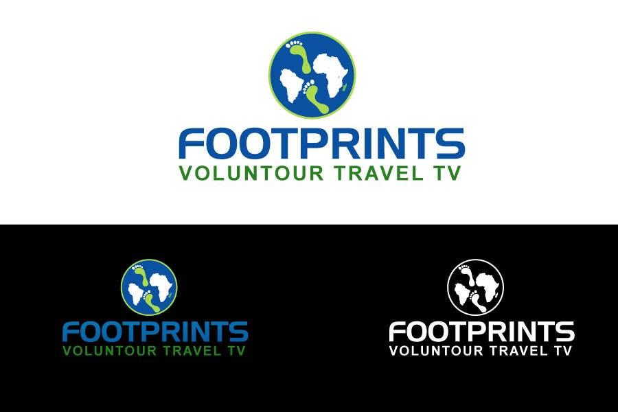 Inscrição nº                                         242                                      do Concurso para                                         Logo Design for Footprints Voluntour Travel Tv