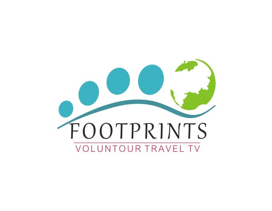 Конкурсная заявка №227 для Logo Design for Footprints Voluntour Travel Tv