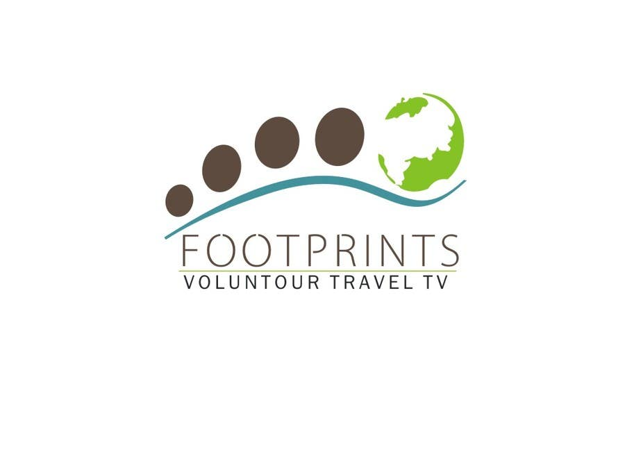 Inscrição nº                                         177                                      do Concurso para                                         Logo Design for Footprints Voluntour Travel Tv