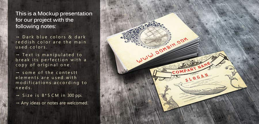 Entry 9 By Ahmedsamirgfx For Vintage Inspired Business Card Old